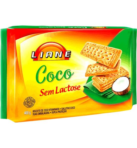 Biscoito Coco Liane 400g