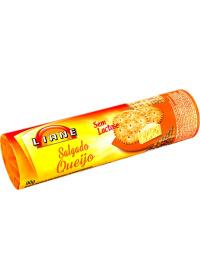 Biscoito Salgado Sabor Queijo Cracker Liane 90g