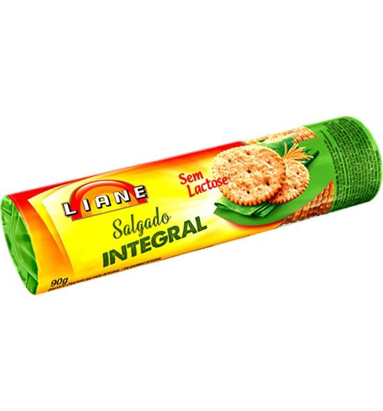 Biscoito Salgado Integral Cracker Liane 90g