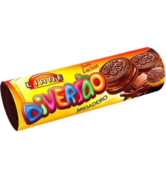 Biscoito Recheado Diversão Sabor Brigadeiro Liane 115g